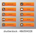 orange web buttons  high... | Shutterstock .eps vector #486504328