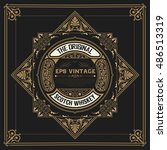 whiskey label with old frames | Shutterstock .eps vector #486513319
