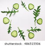 green vegetable organic pattern ... | Shutterstock . vector #486515506