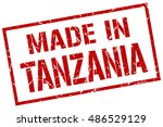 made in tanzania stamp.... | Shutterstock .eps vector #486529129