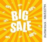 big sale background | Shutterstock .eps vector #486533794