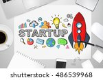 startup presentation with... | Shutterstock . vector #486539968