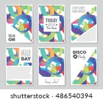 abstract vector layout... | Shutterstock .eps vector #486540394