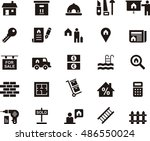 real estate icons | Shutterstock .eps vector #486550024
