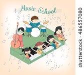 children music school... | Shutterstock .eps vector #486557080