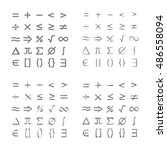 set of monochrome icons with... | Shutterstock .eps vector #486558094