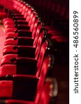 red chairs in theater interior... | Shutterstock . vector #486560899