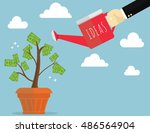 business growth concept... | Shutterstock .eps vector #486564904