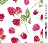 Watercolor Pattern Raspberries...