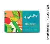 vegetable shop. sale discount... | Shutterstock .eps vector #486574126
