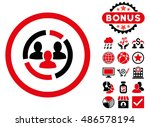 demography diagram icon with... | Shutterstock .eps vector #486578194