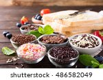 assorted dutch hagelslag... | Shutterstock . vector #486582049
