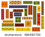 african ethnic ornaments with... | Shutterstock .eps vector #486582730