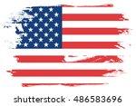 a flag illustration of the... | Shutterstock .eps vector #486583696
