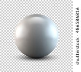 white abstract sphere  ball ... | Shutterstock .eps vector #486586816
