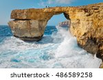 Rough Seas At Azure Window In...