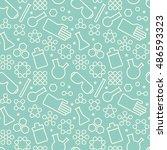 white chemistry symbols on...   Shutterstock .eps vector #486593323