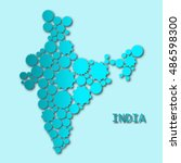 abstract map of india | Shutterstock . vector #486598300