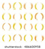 Wheat Ear Symbols For Logo...
