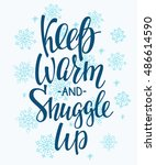 winter cold lettering.... | Shutterstock .eps vector #486614590