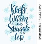 winter cold lettering.... | Shutterstock .eps vector #486614590