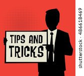 man showing board  business...   Shutterstock .eps vector #486618469