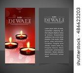 diwali burning oil red... | Shutterstock .eps vector #486623203