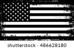 grunge american flag.vector... | Shutterstock .eps vector #486628180
