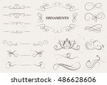 vintage ornaments.calligraphic... | Shutterstock .eps vector #486628606