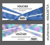 gift voucher. vector ... | Shutterstock .eps vector #486628714