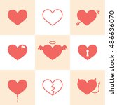 set of icons love   Shutterstock .eps vector #486636070