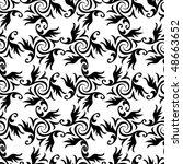 seamless black and white...   Shutterstock .eps vector #48663652
