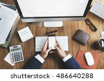 business objects office... | Shutterstock . vector #486640288