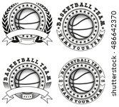 vector illustration basketball...   Shutterstock .eps vector #486642370