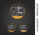 coffee shop illustration design ... | Shutterstock .eps vector #486646210