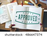 quality service guaranteed... | Shutterstock . vector #486647374
