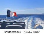 French Tricoleur Flag Flying O...