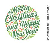 holidays greeting card with... | Shutterstock .eps vector #486679354