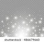 vector glowing stars  lights... | Shutterstock .eps vector #486679660