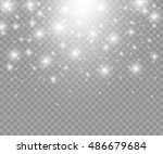 vector glowing stars  lights... | Shutterstock .eps vector #486679684