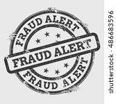 fraud alert rubber stamp... | Shutterstock .eps vector #486683596