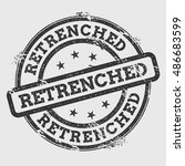 retrenched rubber stamp... | Shutterstock .eps vector #486683599