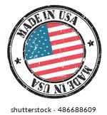 """stamp """"made in usa"""" on the flag ... 