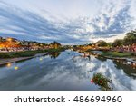 hoi an  vietnam   july 17  2015 ... | Shutterstock . vector #486694960