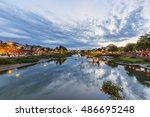 hoi an  vietnam   july 17  2015 ... | Shutterstock . vector #486695248