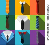 tie vector flat icons. simple...