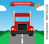 truck on the road | Shutterstock .eps vector #486701110