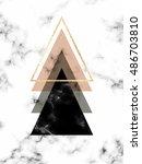 minimal geometric marble... | Shutterstock .eps vector #486703810