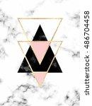 minimal geometric marble... | Shutterstock .eps vector #486704458