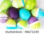 group of colored easter eggs | Shutterstock . vector #48671140